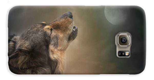 Howling At The Moon Galaxy S6 Case