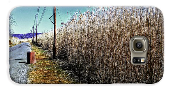 Hudson River Winter Walk Galaxy S6 Case