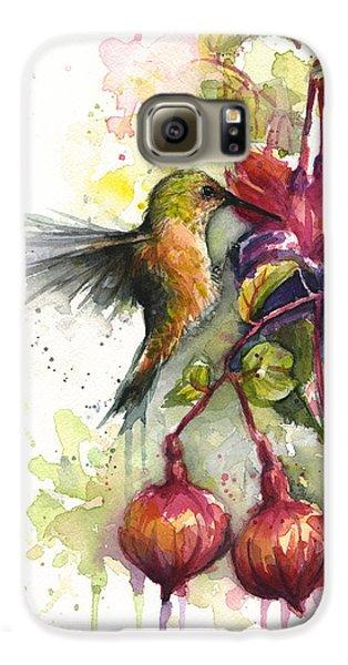 Hummingbird And Fuchsia Galaxy S6 Case