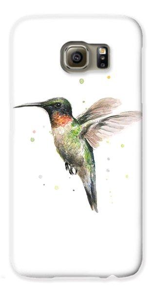 Birds Galaxy S6 Case - Hummingbird by Olga Shvartsur