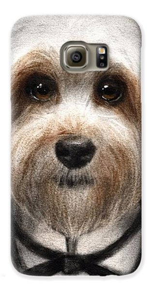 Humorous Dressed Dog Painting By Galaxy S6 Case