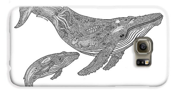 Humpback And Calf Galaxy S6 Case by Carol Lynne
