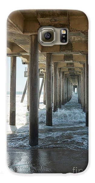Galaxy S6 Case featuring the photograph Huntington Beach Pier From Below by Ana V Ramirez