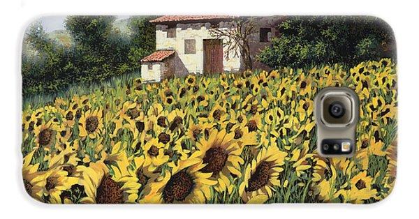 Sunflower Galaxy S6 Case - I Girasoli Nel Campo by Guido Borelli