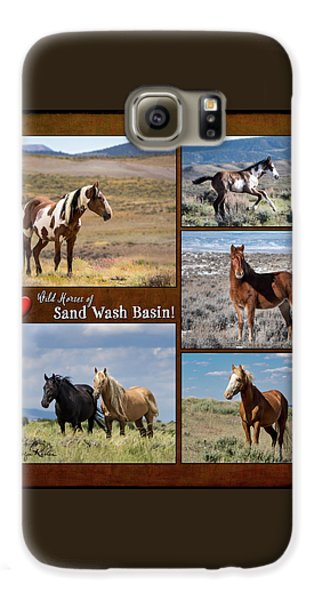 I Love Wild Horses Of Sand Wash Basin Galaxy S6 Case