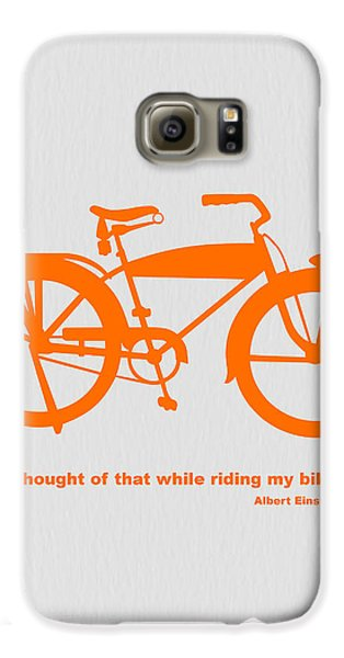 I Thought Of That While Riding My Bike Galaxy S6 Case by Naxart Studio