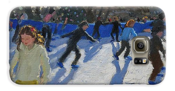 Hyde Park Galaxy S6 Case - Ice Skaters At Christmas Fayre In Hyde Park  London by Andrew Macara