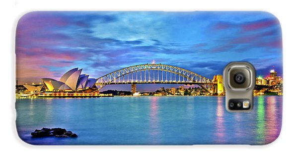 Icons Of Sydney Harbour Galaxy S6 Case by Az Jackson