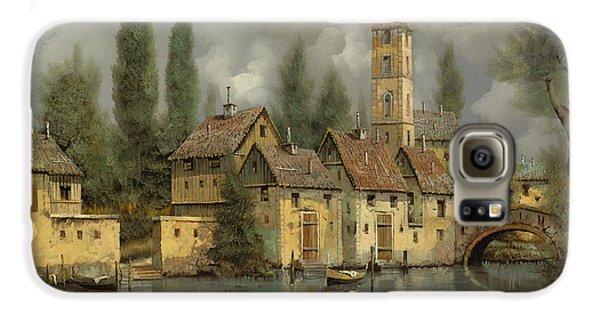 Landscape Galaxy S6 Case - Il Borgo Sul Fiume by Guido Borelli
