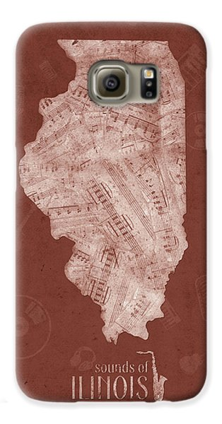 Illinois Map Music Notes 5 Galaxy S6 Case
