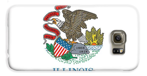 Illinois State Flag Galaxy S6 Case by American School