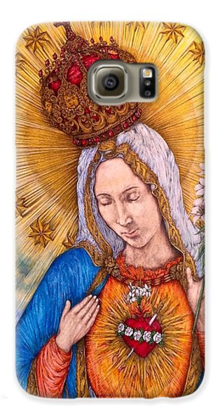 Immaculate Heart Of Virgin Mary Galaxy S6 Case by Kent Chua
