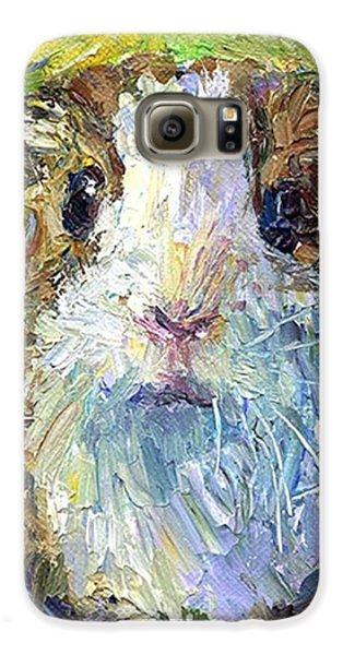 Impasto Impressionistic  Guinea Pig Art Galaxy S6 Case