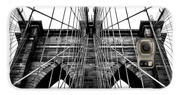 Brooklyn Bridge Galaxy S6 Case - Imposing Arches by Az Jackson