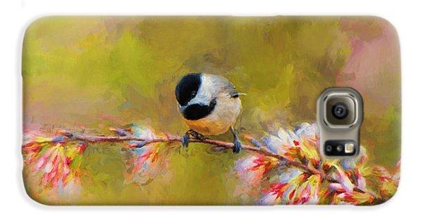 Impressionist Chickadee Galaxy S6 Case by Jai Johnson