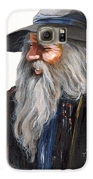 Wizard Galaxy S6 Case - Impressionist Wizard by J W Baker
