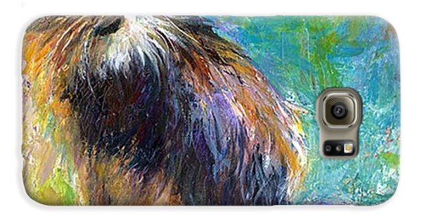 Impressionistic Tuxedo Cat Painting By Galaxy S6 Case