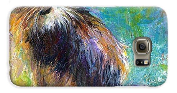 Galaxy S6 Case - Impressionistic Tuxedo Cat Painting By by Svetlana Novikova