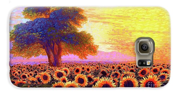 Sunflower Galaxy S6 Case - In Awe Of Sunflowers, Sunset Fields by Jane Small