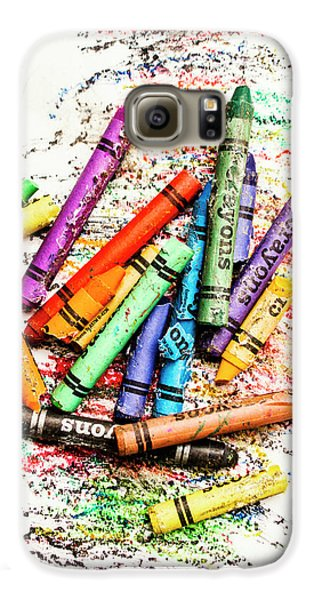 In Colours Of Broken Crayons Galaxy S6 Case by Jorgo Photography - Wall Art Gallery