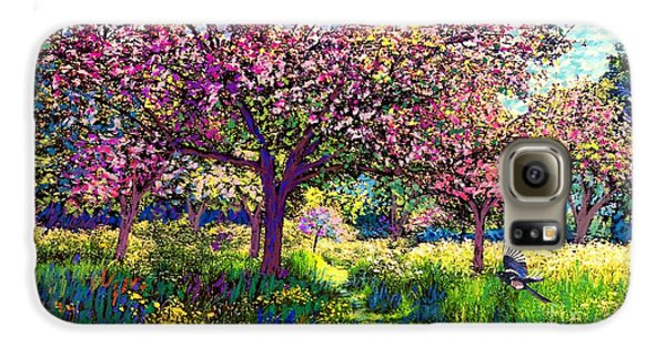 Daisy Galaxy S6 Case - In Love With Spring, Blossom Trees by Jane Small