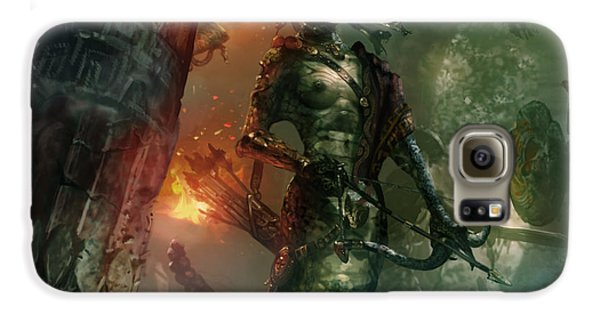 In The Lair Of The Gorgon Galaxy S6 Case by Ryan Barger