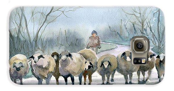 Sheep Galaxy S6 Case - In The Morning Mist by Marsha Elliott