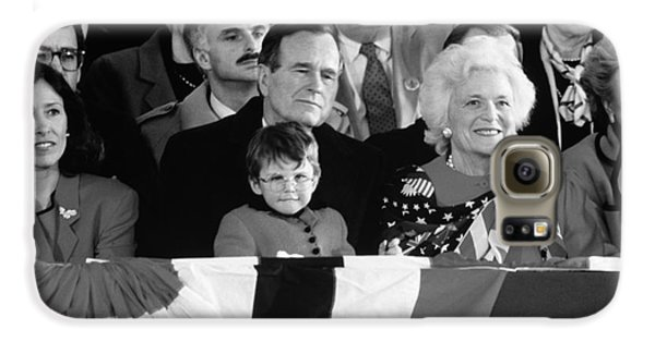 George Bush Galaxy S6 Case - Inauguration Of George Bush Sr by H. Armstrong Roberts/ClassicStock