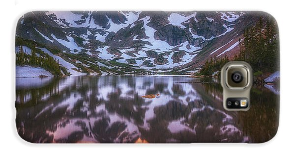 Mountain Sunset Galaxy S6 Case - Indian Peaks Reflection by Darren  White