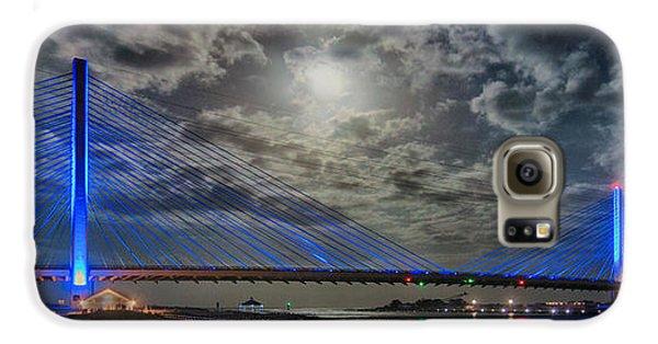 Indian River Bridge Moonlight Panorama Galaxy S6 Case