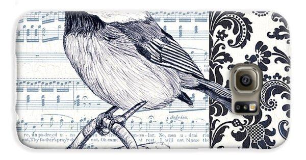 Indigo Vintage Songbird 2 Galaxy S6 Case by Debbie DeWitt