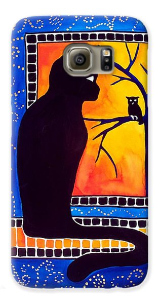 Insomnia - Cat And Owl Art By Dora Hathazi Mendes Galaxy S6 Case