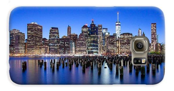 New York City Skyline Galaxy S6 Case - Inspiring Stories by Az Jackson