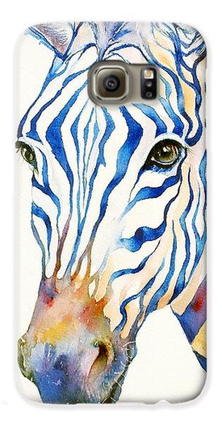 Intense Blue Zebra Galaxy S6 Case by Arti Chauhan