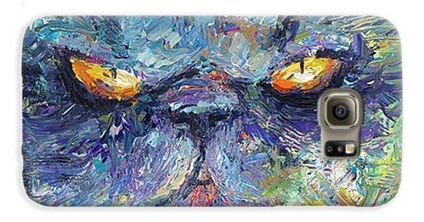 Galaxy S6 Case - Intense Palette Knife  Persian Cat by Svetlana Novikova
