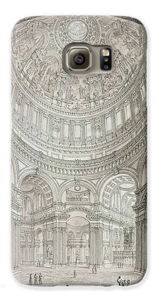 Interior Of Saint Pauls Cathedral Galaxy S6 Case by John Coney