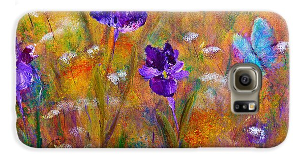 Iris Wildflowers And Butterfly Galaxy S6 Case