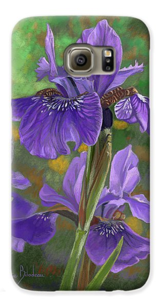 Irises Galaxy S6 Case by Lucie Bilodeau