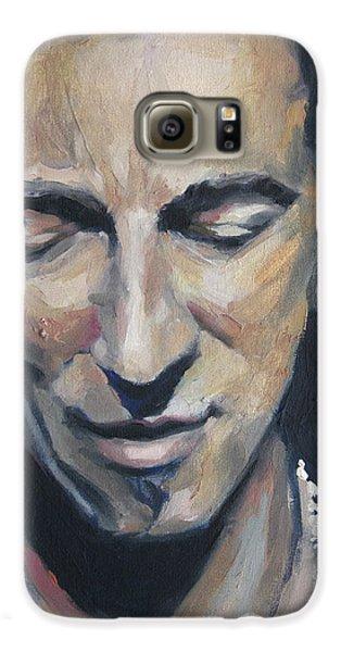 Bruce Springsteen Galaxy S6 Case - It's Boss Time II - Bruce Springsteen Portrait by Khairzul MG