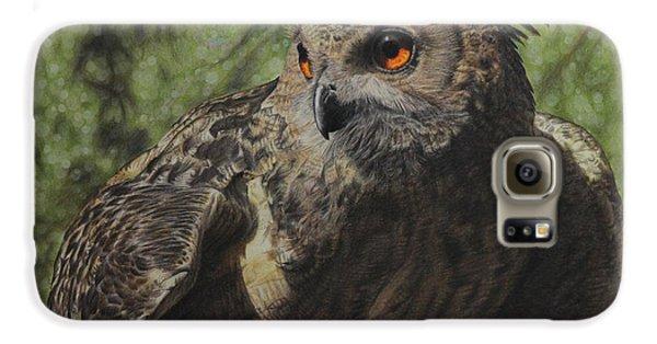 Owl Galaxy S6 Case - Ivan by Jennifer Watson