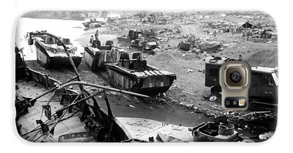 Mount Rushmore Galaxy S6 Case - Iwo Jima Beach by War Is Hell Store