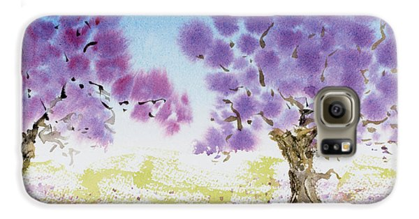 Jacaranda Trees Blooming In Buenos Aires, Argentina Galaxy S6 Case