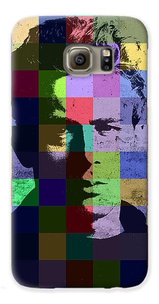 James Dean Actor Hollywood Pop Art Patchwork Portrait Pop Of Color Galaxy S6 Case by Design Turnpike