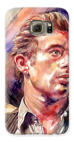 James Dean Galaxy S6 Case - James Dean Portrait by Suzann's Art