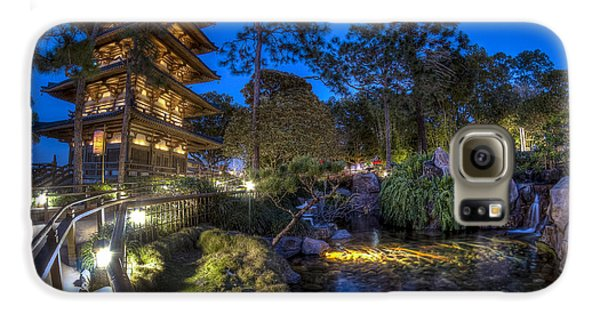 Japan Epcot Pavilion By Night. Galaxy S6 Case