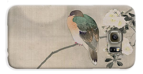 Japanese Silk Painting Of A Wood Pigeon Galaxy S6 Case by Japanese School