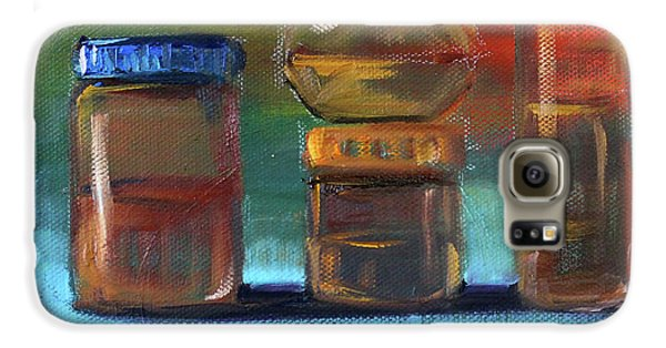 Galaxy S6 Case featuring the painting Jars Still Life Painting by Nancy Merkle
