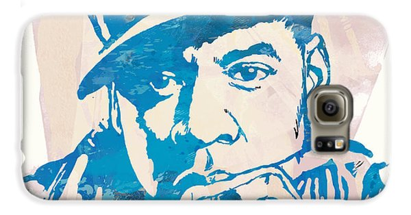 Jay-z  Etching Pop Art Poster Galaxy S6 Case by Kim Wang