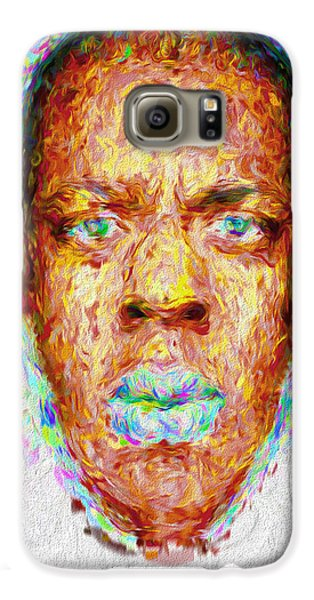 Jay Z Painted Digitally 2 Galaxy S6 Case by David Haskett