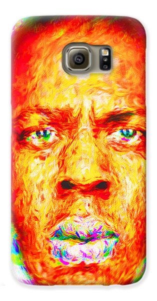 Jay-z Shawn Carter Digitally Painted Galaxy S6 Case by David Haskett